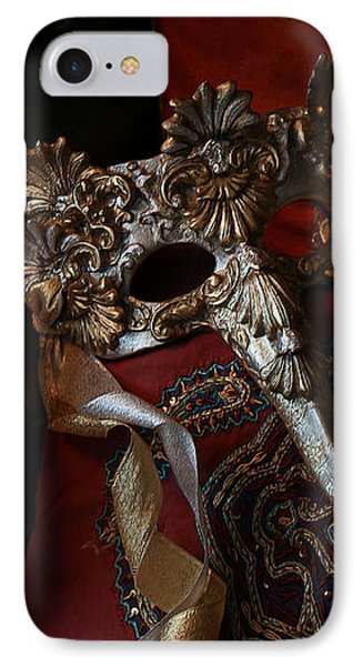 After The Ball - Venetian Mask IPhone Case by Yvonne Wright