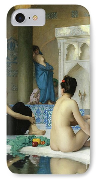 Jessica Alba iPhone 7 Case - After The Bath, Jean Leon Gerome by Jean Leon Gerome