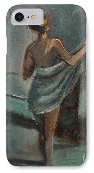IPhone Case featuring the painting After The Bath by Jennifer Beaudet