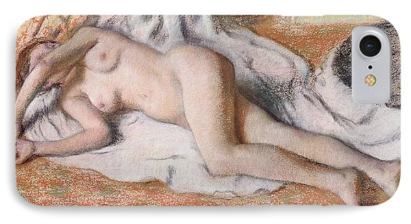 After The Bath Or Reclining Nude IPhone Case by Edgar Degas