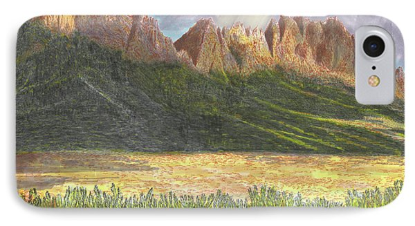 After The Monsoon Organ Mountains IPhone Case by Jack Pumphrey
