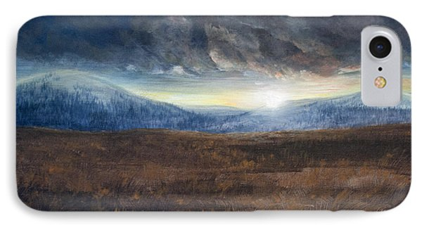 After The Storm - Cool Tone IPhone Case by Jessica Tookey