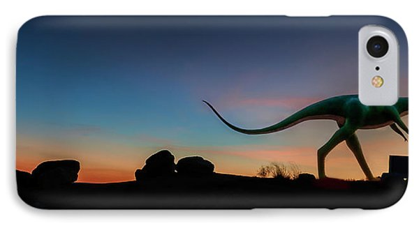 Afterglow Dinosaur IPhone Case by Gary Warnimont