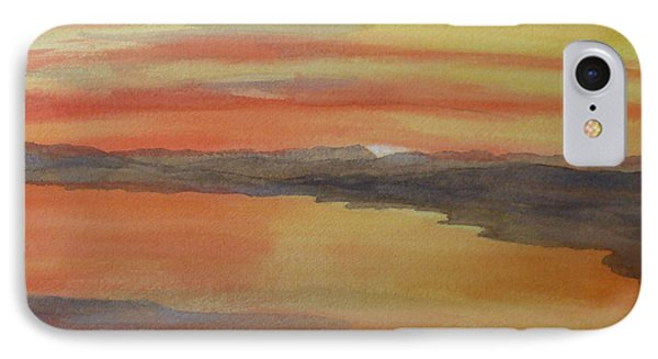 IPhone Case featuring the painting Afterglow by Joel Deutsch