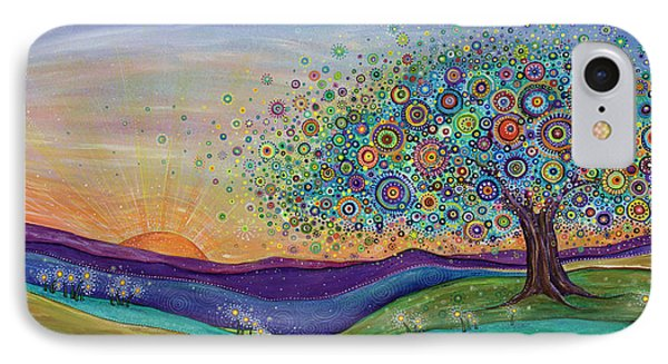 IPhone Case featuring the painting Afterglow - This Beautiful Life by Tanielle Childers