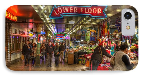 Afternoon At The Pike Street Market Seattle Washington IPhone Case by Lawrence Christopher