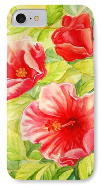 IPhone Case featuring the painting Afternoon Hibiscus by Inese Poga