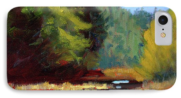IPhone Case featuring the painting Afternoon On The River by Nancy Merkle