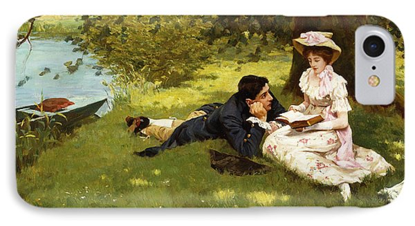Afternoon Pastimes IPhone Case by Edward R King