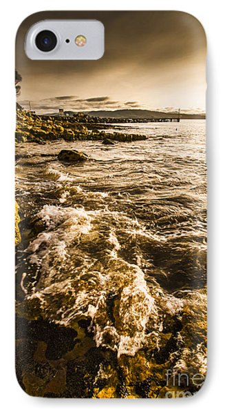Afternoon Rocky Coast  IPhone Case by Jorgo Photography - Wall Art Gallery