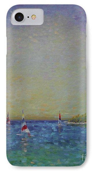 Afternoon Sailing IPhone Case by Gail Kent