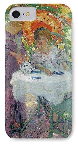 Afternoon Tea Phone Case by Richard Edward Miller