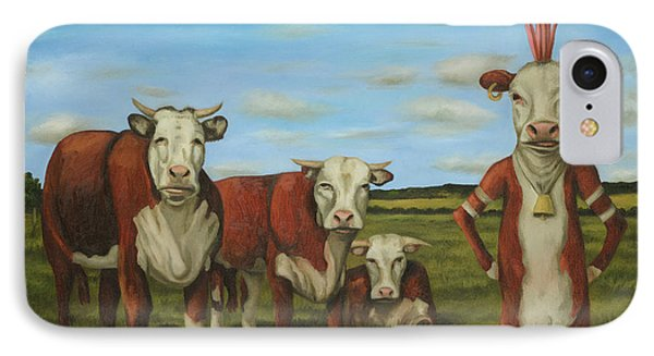 Against The Herd IPhone Case by Leah Saulnier The Painting Maniac