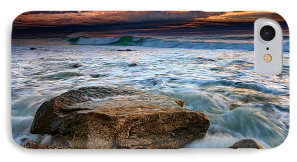 Against The Tide At Montauk Point IPhone Case by Rick Berk