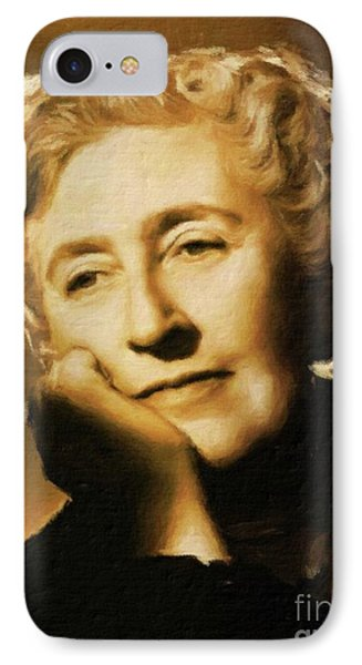 Agatha Christie, Literary Legend By Mary Bassett IPhone Case by Mary Bassett