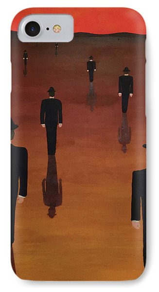 IPhone Case featuring the painting Agents Orange by Thomas Blood