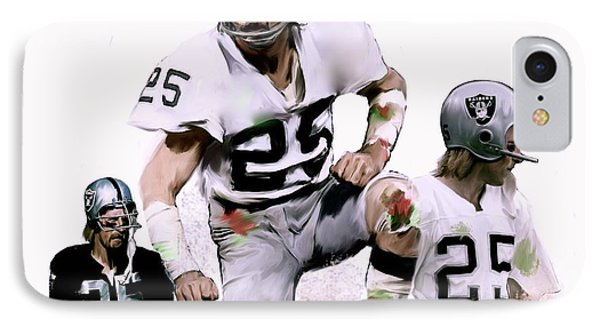 IPhone Case featuring the painting Agony Of Greatness, Vii  Fred Biletnikoff  by Iconic Images Art Gallery David Pucciarelli