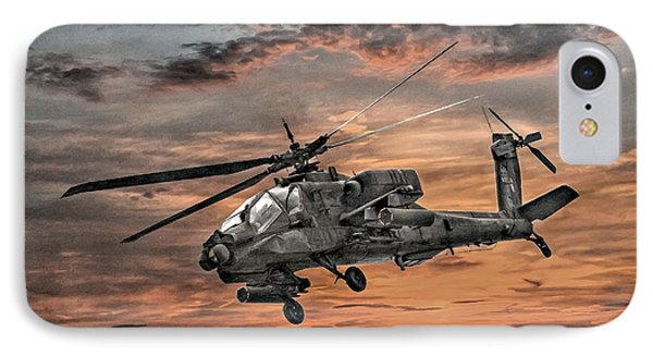 Helicopter iPhone 7 Case - Ah-64 Apache Attack Helicopter by Randy Steele