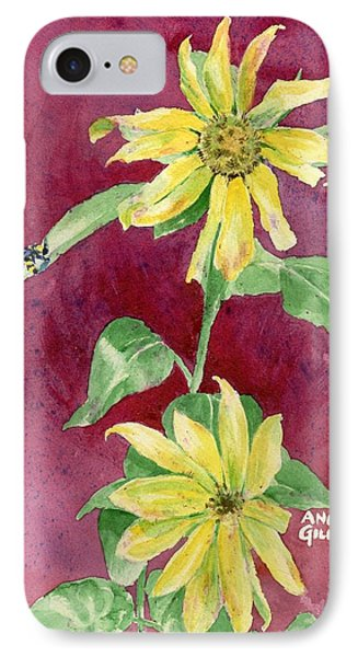 Ah Sunflowers IPhone Case by Andrew Gillette