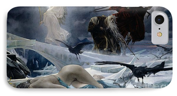 Ahasuerus At The End Of The World IPhone Case by Adolph Hiremy Hirschl