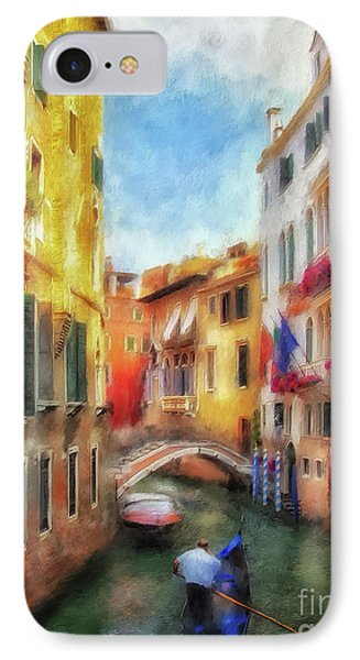 IPhone Case featuring the digital art Ahh Venezia Painterly by Lois Bryan
