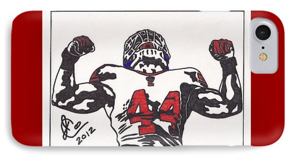 IPhone Case featuring the drawing Ahmad Bradshaw by Jeremiah Colley