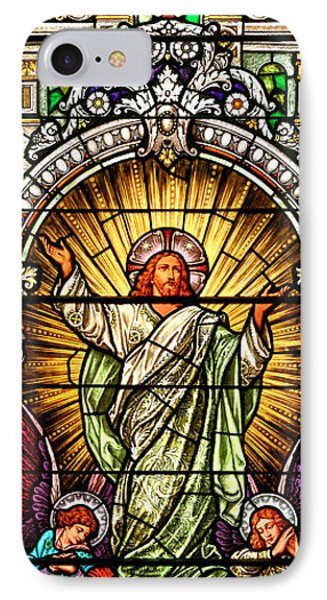 IPhone Case featuring the photograph Stained Glass Scene 10 Crop by Adam Jewell