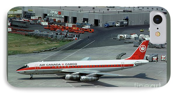 Air Canada Cargo Douglas Dc-8-54f, Cf-tjo IPhone Case by Wernher Krutein