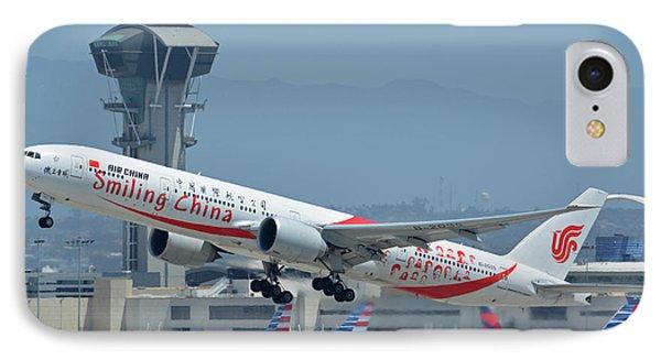 Air China Boeing 777-39ler B-2035 Smiling China Los Angeles International Airport May 3 2016 Phone Case by Brian Lockett