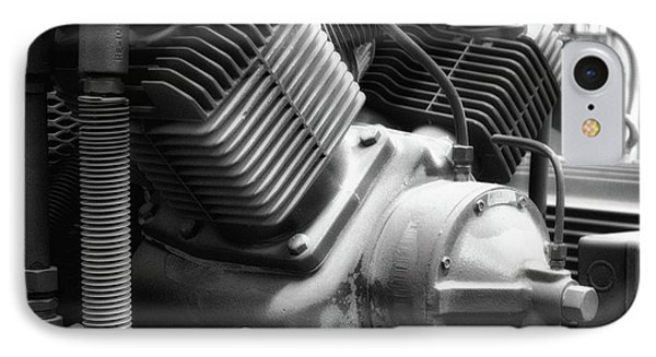 Air Compressor Bw IPhone Case by Thomas Woolworth