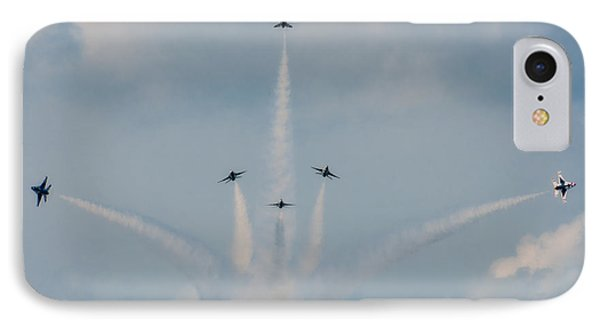 IPhone Case featuring the photograph Air Force Thunderbirds by Linda Constant