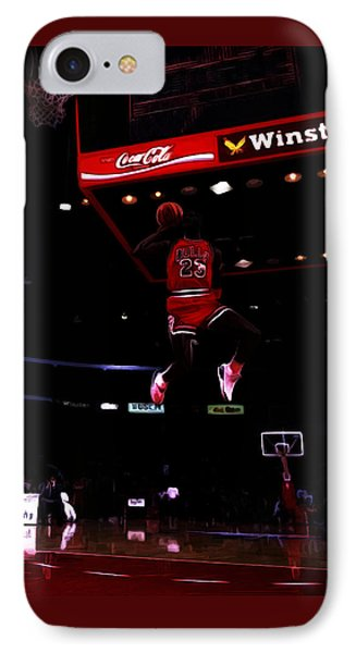 Air Jordan 1988 Slam Dunk Contest IPhone Case by Brian Reaves