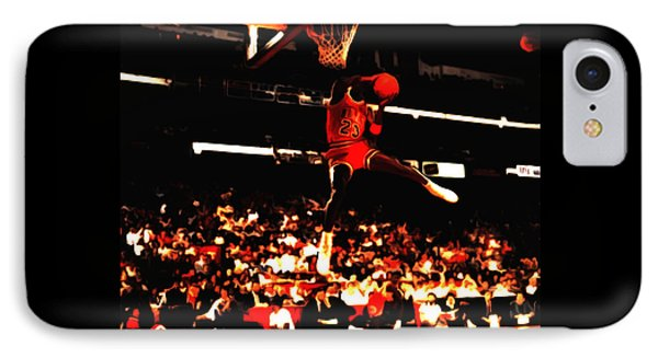Air Jordan 1988 Slam Dunk Contest 8c IPhone Case by Brian Reaves