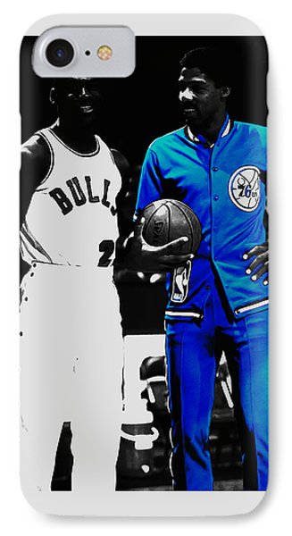 Air Jordan And Julius Erving IPhone Case by Brian Reaves