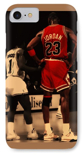 Air Jordan And Muggsy Bogues IPhone Case by Brian Reaves