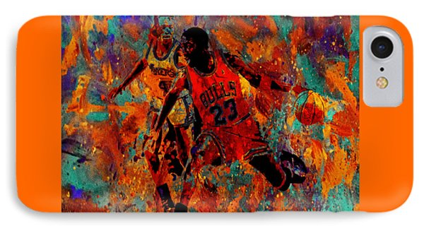 Air Jordan In The Paint 02a IPhone Case by Brian Reaves