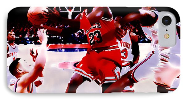 Air Jordan In Traffic IPhone Case by Brian Reaves