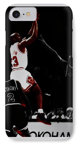 Air Jordan Over John Starks IPhone Case by Brian Reaves