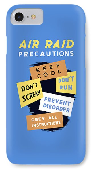 Air Raid Precautions - Ww2 IPhone Case