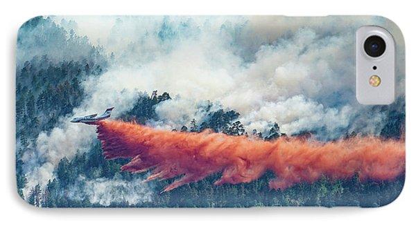 Air Tanker On Crow Peak Fire Phone Case by Bill Gabbert