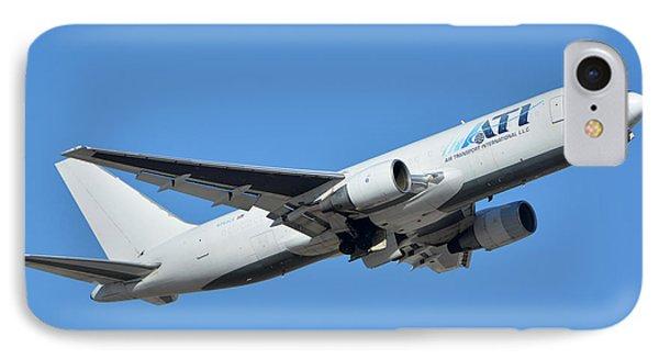 Air Transport International Boeing 767-232 N763cx Phoenix Sky Harbor January 19 2016  Phone Case by Brian Lockett