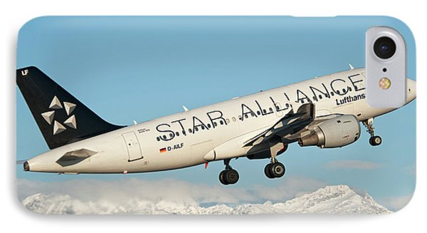 Airbus A319 Lufthansa With Star Alliance Livery IPhone Case by Roberto Chiartano