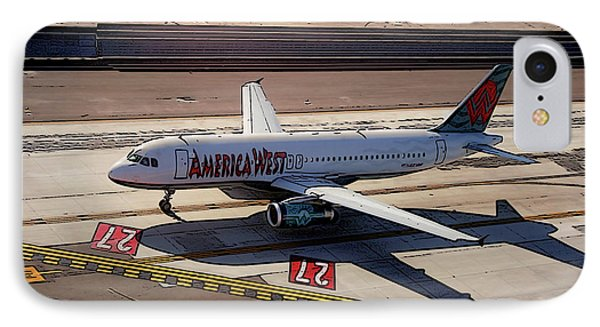 Airbus A320-231 Preparing For Takeoff America West Airlines IPhone Case