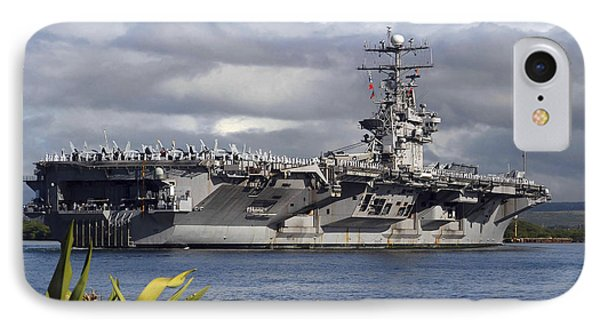 Aircraft Carrier Uss Abraham Lincoln Phone Case by Stocktrek Images