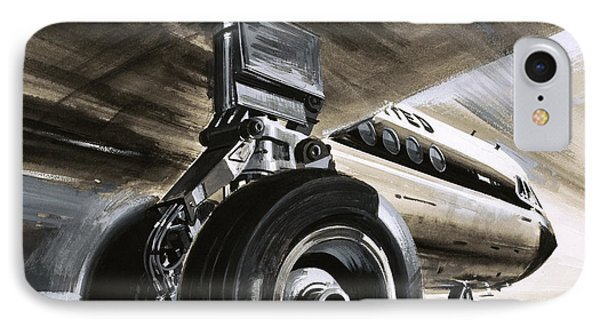 Aircraft Landing Or Taking Off IPhone Case by Wilf Hardy