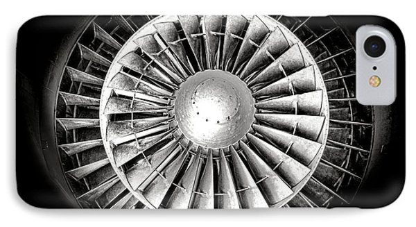Aircraft Turbofan Engine IPhone Case by Olivier Le Queinec