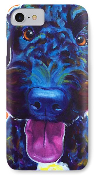 Airedoodle - Fletcher IPhone Case by Alicia VanNoy Call