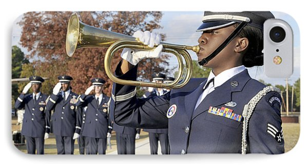 Airman Plays Taps During The Veterans Phone Case by Stocktrek Images