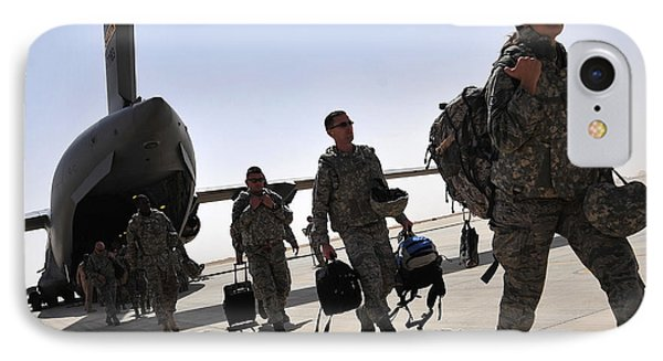 Airmen Arrive In Iraq In Support IPhone Case by Stocktrek Images