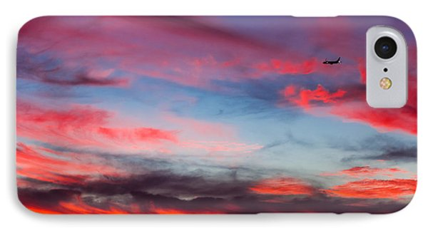 Airplane In The Sunset IPhone Case by April Reppucci